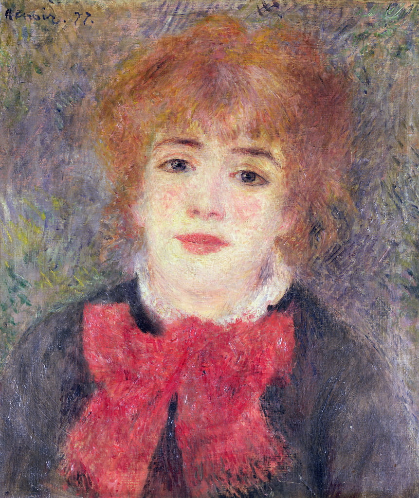 Portrait of Jeanne Samary (1857-90), 1877  by Pierre Auguste Renoir