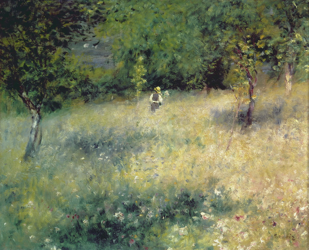Spring at Chatou, c.1872-5 by Pierre Auguste Renoir