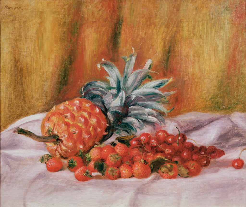 Strawberries and Pineapple, c.1895  by Pierre Auguste Renoir