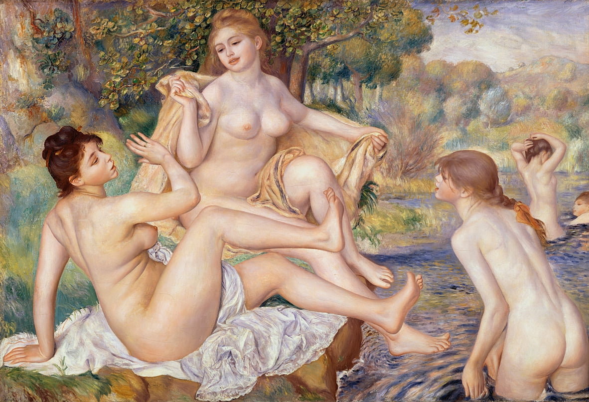 The Large Bathers by Pierre Auguste Renoir