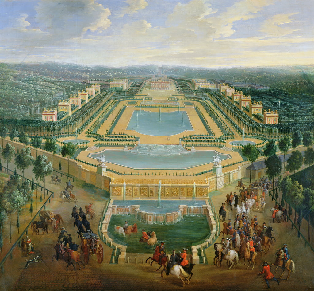 General view of the Chateau and the Pavilions at Marly, 1722  by Pierre Denis Martin