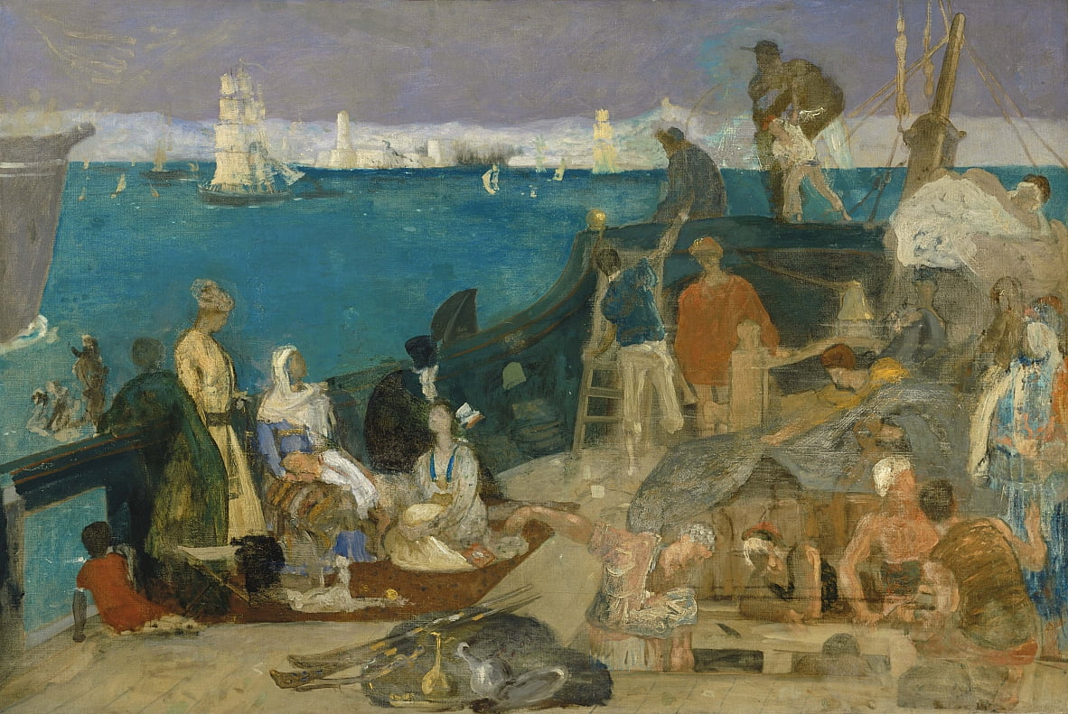 Marseilles, Gateway to the Orient by Pierre Puvis de Chavannes