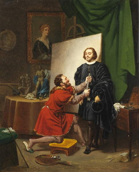 Pietro Aretino in the Studio of Tintoretto, 1822 by Pierre Nolasque Bergeret