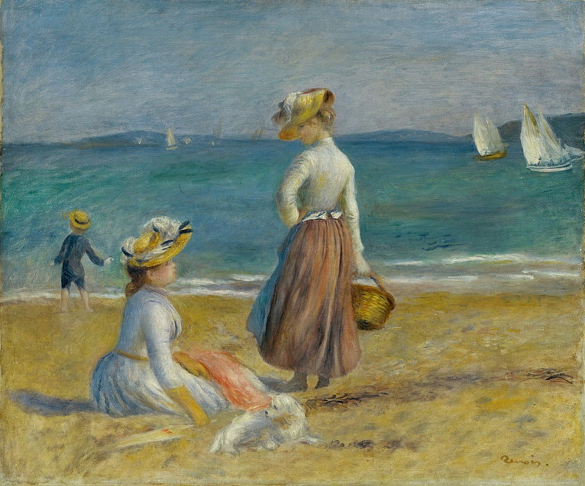 Figures on the Beach, 1890.  by Pierre Auguste Renoir