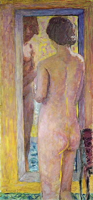 Nude before a Mirror, 1934  by Pierre Bonnard