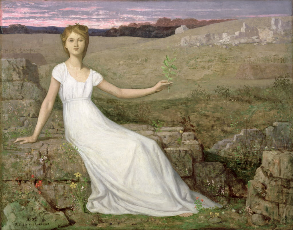 Hope, 1872  (see 83731) by Pierre Puvis de Chavannes