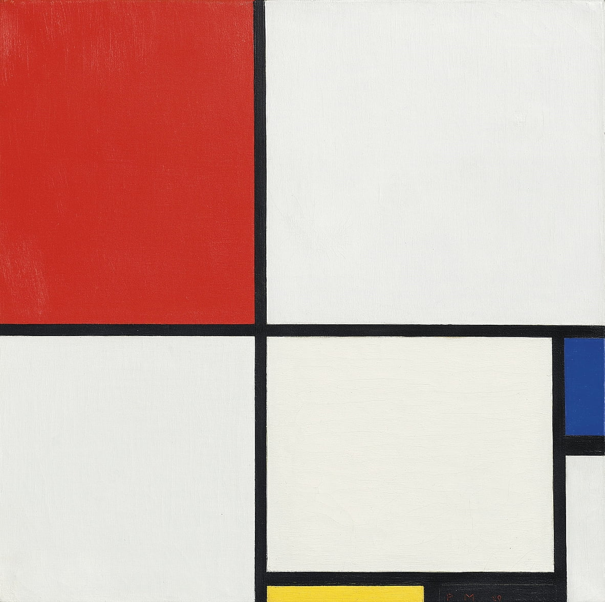 Composition No. III, with red, blue, yellow and black, 1929 by Piet Mondrian