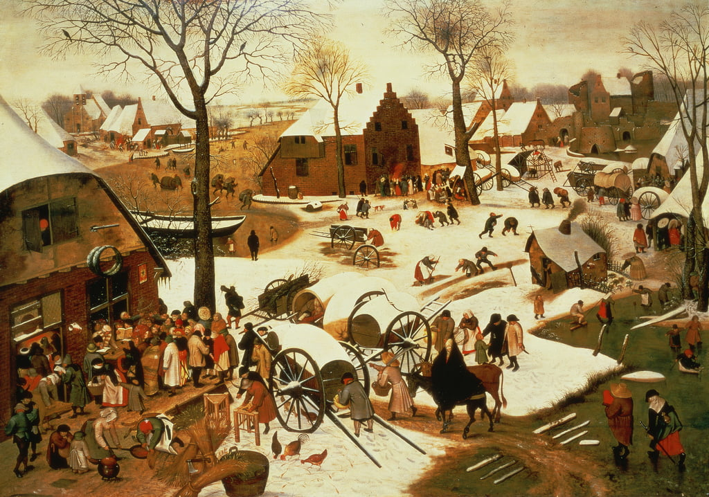 Census at Bethlehem, c.1566  by Pieter Bruegel the Elder