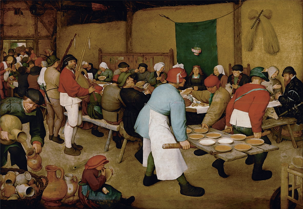 Peasant Wedding by Pieter Bruegel the Elder