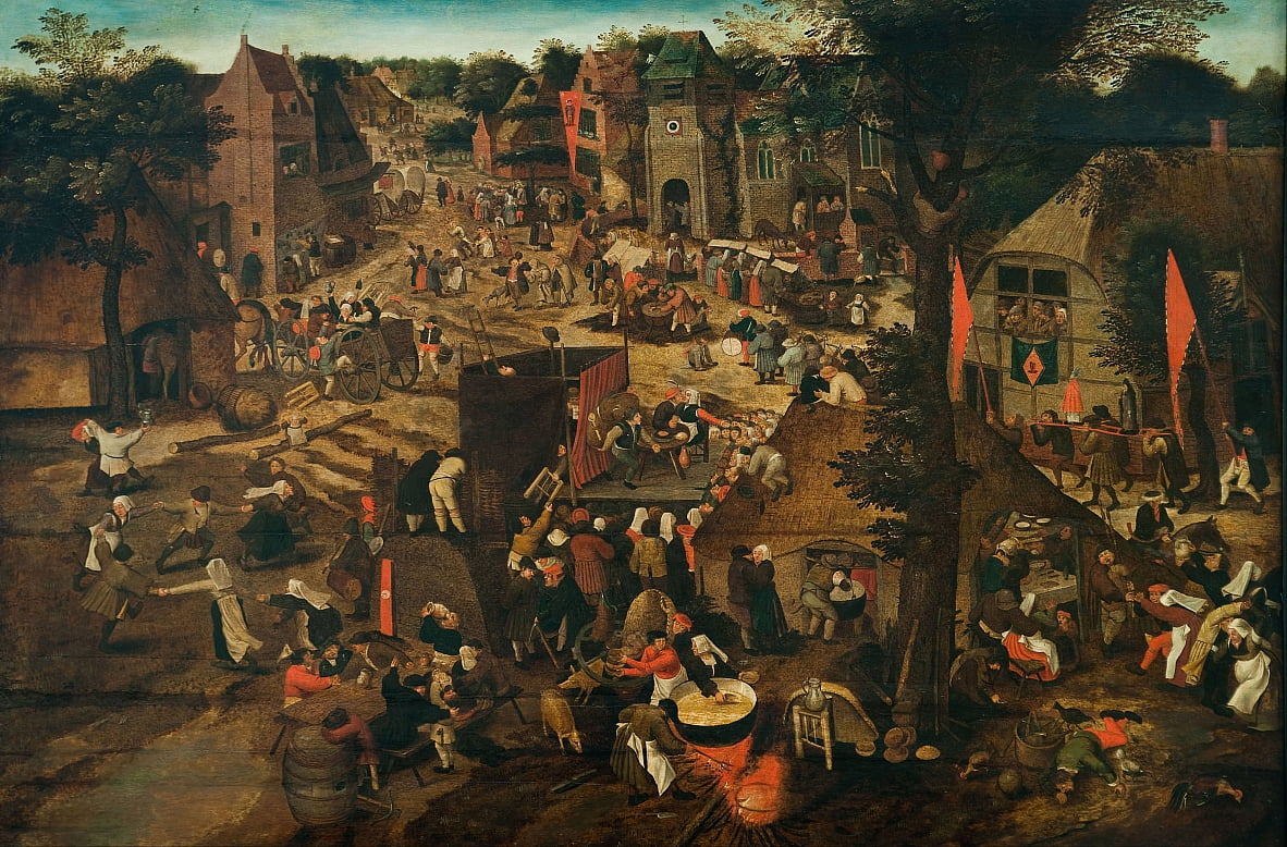 A Village Fair (Village festival in Honour of Saint Hubert and Saint Anthony) by Pieter Brueghel the Younger