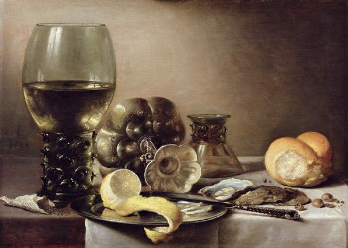 The Oyster Breakfast  by Pieter Claesz