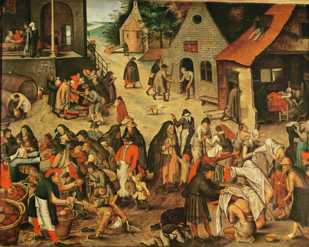 Works of Mercy  by Pieter Brueghel the Younger