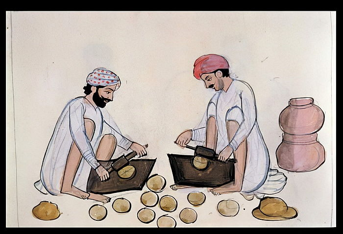Pulse-cake Makers, c.1890 (wc on paper) by Punjabi School