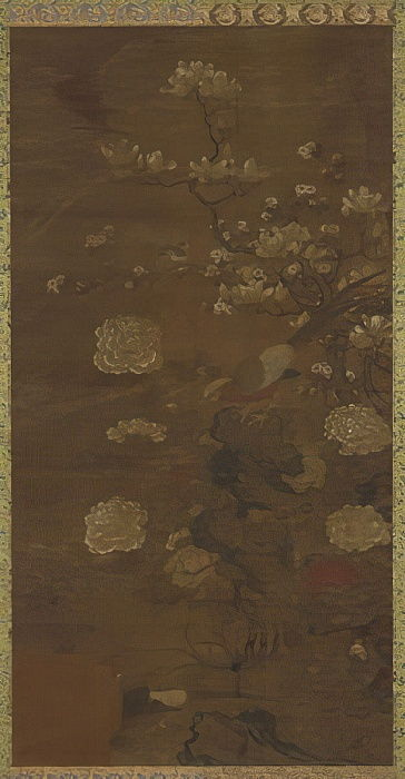 Magnolias, peonies, and pheasants  by Qing Dynasty Chinese School