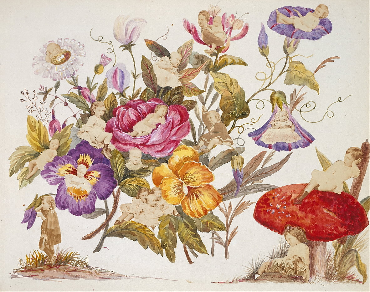 Album of designs painted by Alexandra, Princess of Wales, incorporating photographs, 1866-1869 by Queen Alexandra
