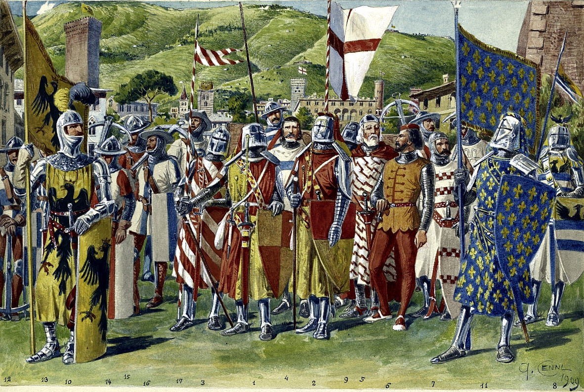 Knights, soldiers, archers and foot soldiers of the Republic of Genoa by Quinto Cenni