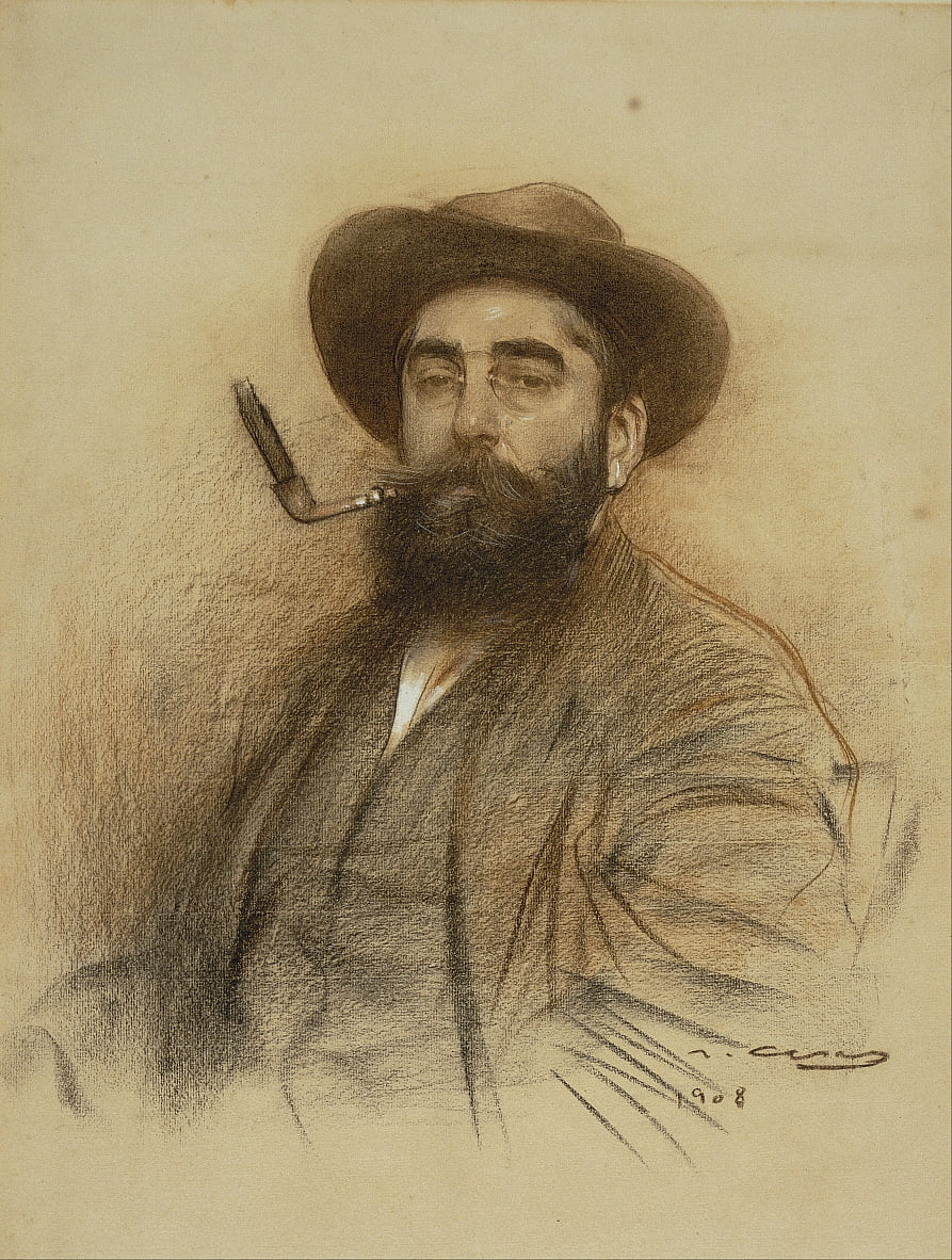 Self-portrait by Ramon Casas i Carbo