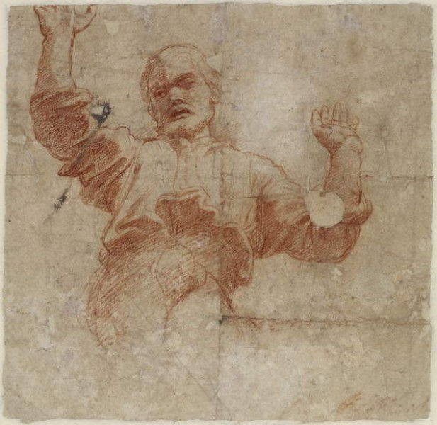 Verso: Study for a Figure of the Almighty, WA1846.207 by Raphael