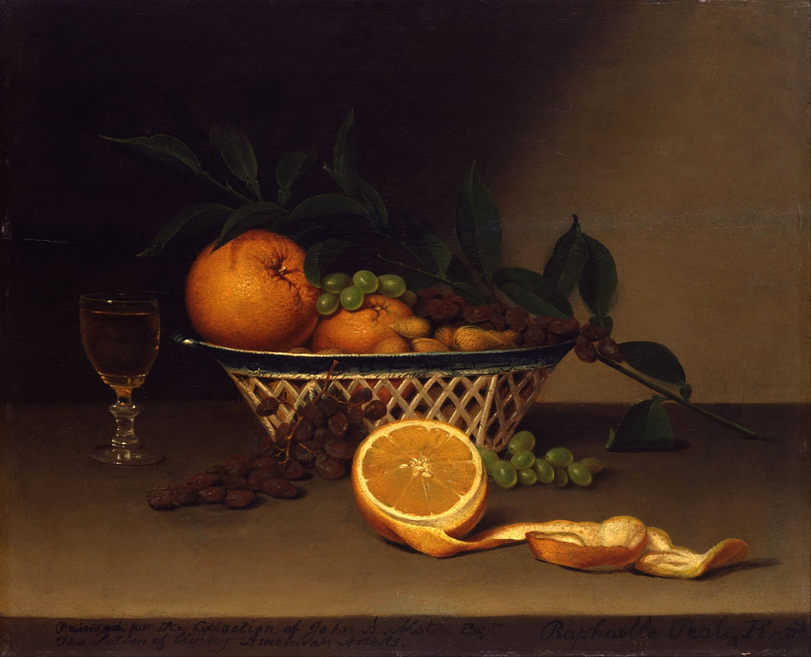 Still Life with Oranges by Raphaelle Peale