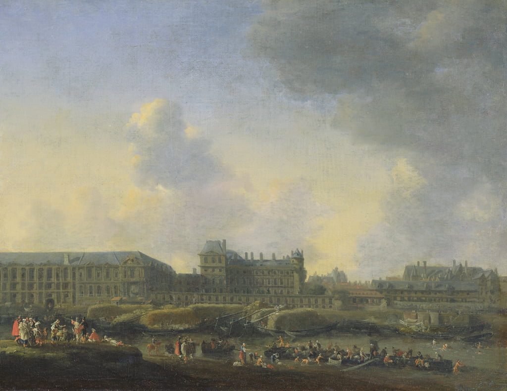 View of the river Seine, the Louvre and the Palais Bourbon, c.1655  by Reinier Zeeman