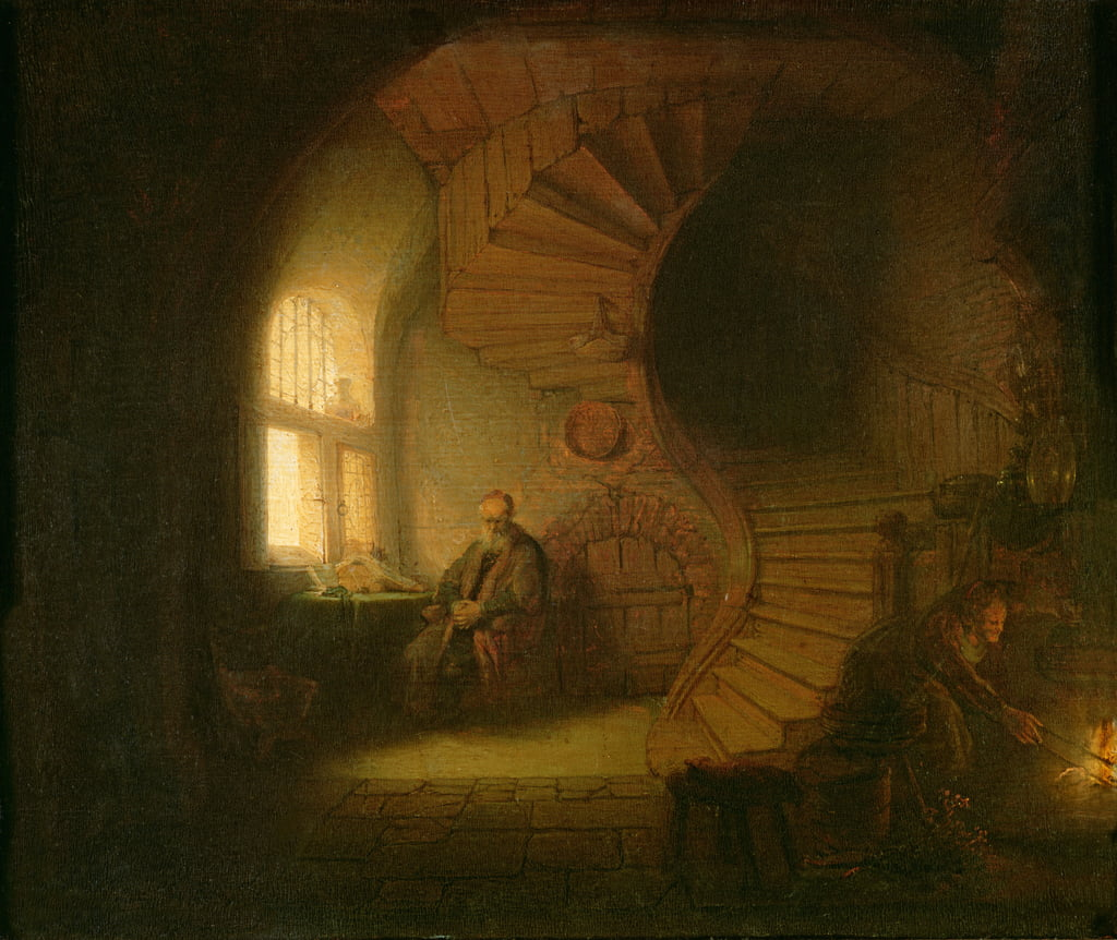 Philosopher in Meditation by Rembrandt van Rijn