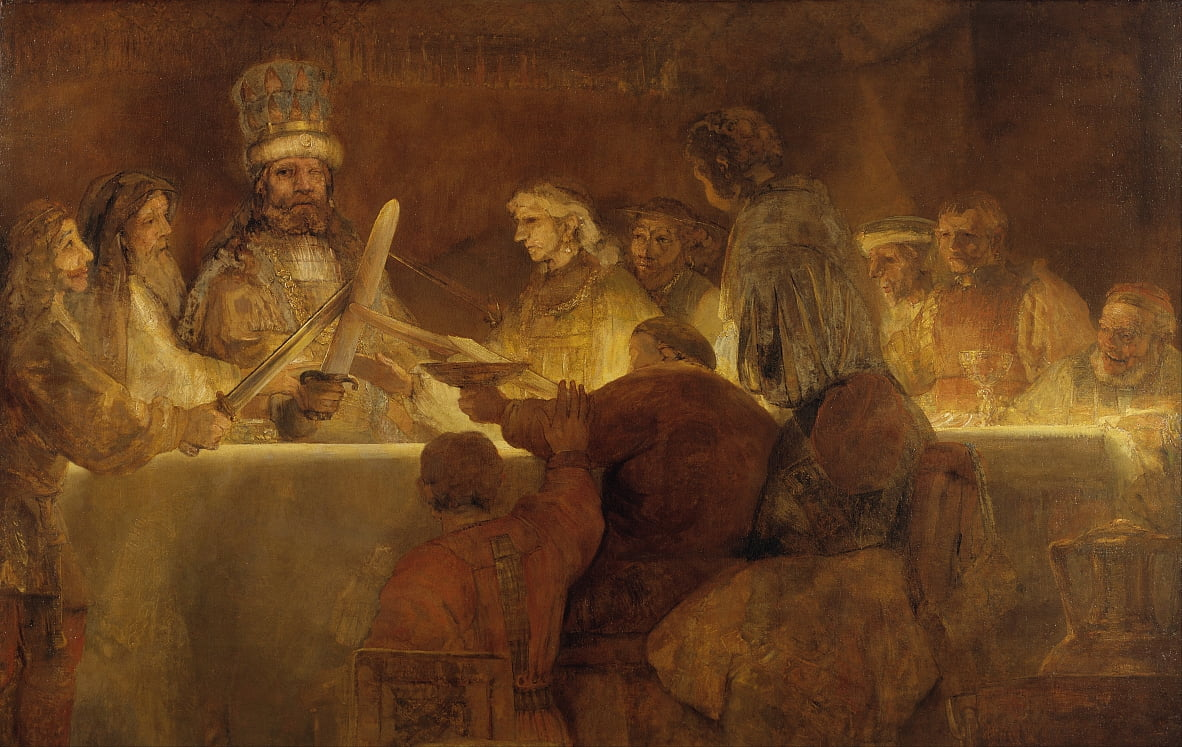 The Conspiracy of the Batavians under Claudius Civilis by Rembrandt van Rijn