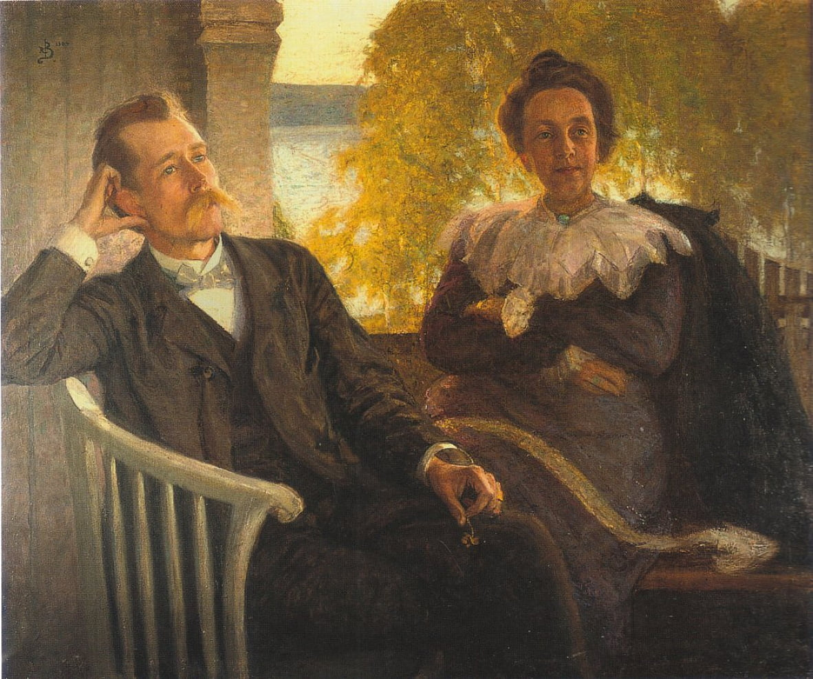 Author Per Hallstrom and his wife Helga by Richard Bergh