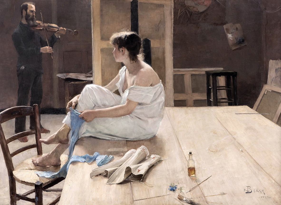 Completed Sitting not established  by Richard Bergh