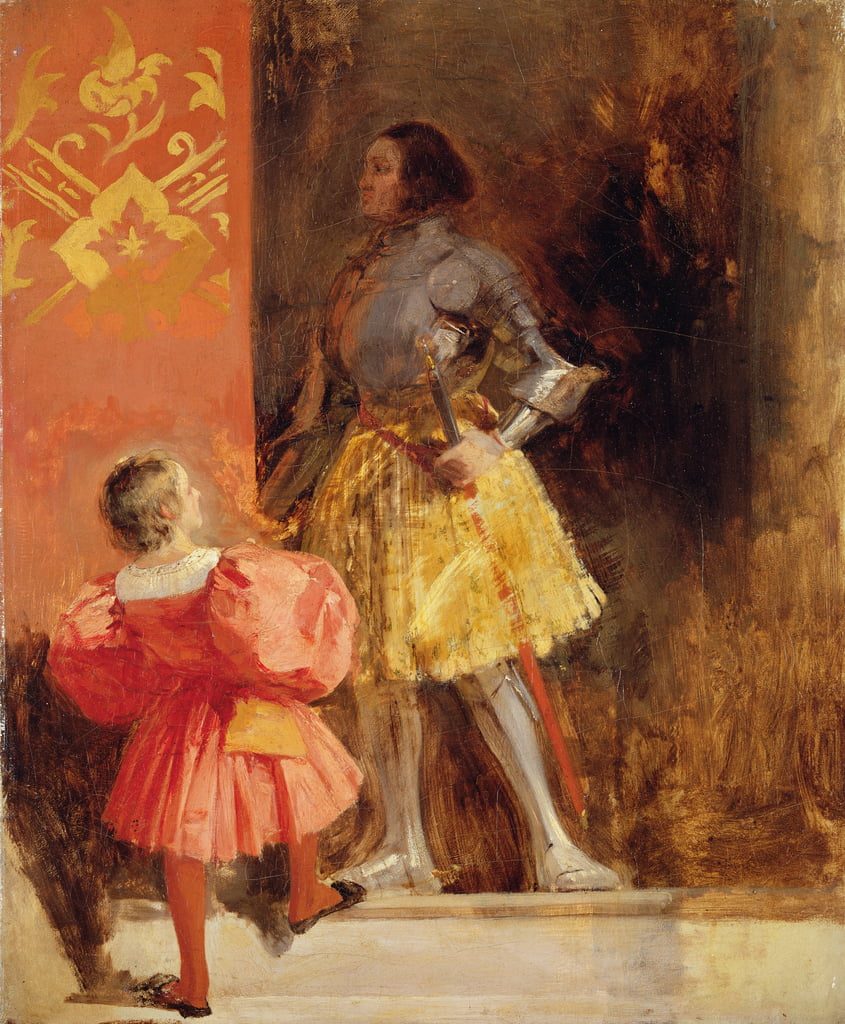 A Knight and Page, c.1826  by Richard Parkes Bonington