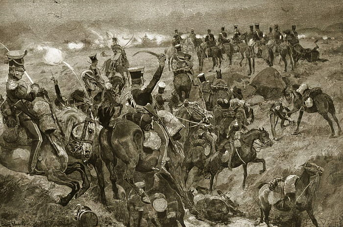 Charge of the Dragoons at Talavera, illustration from