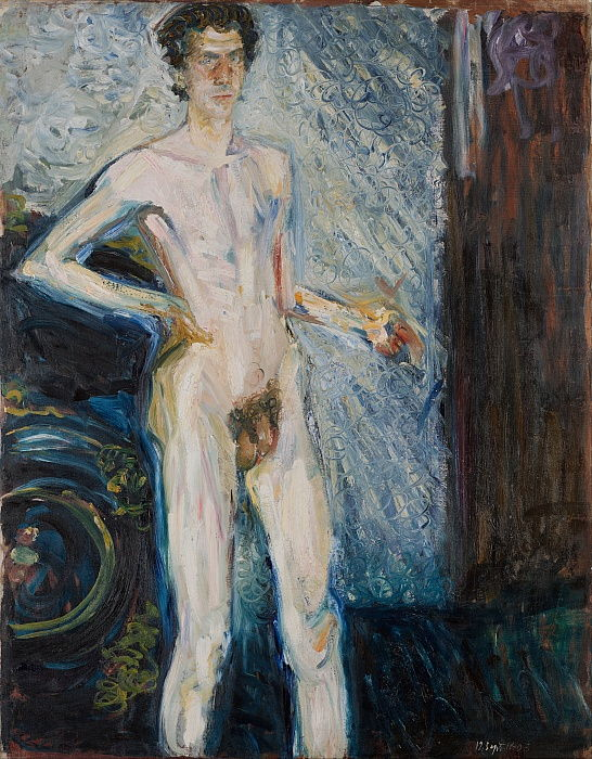 Nude Self-Portrait with Palette, 1908 by Richard Gerstl