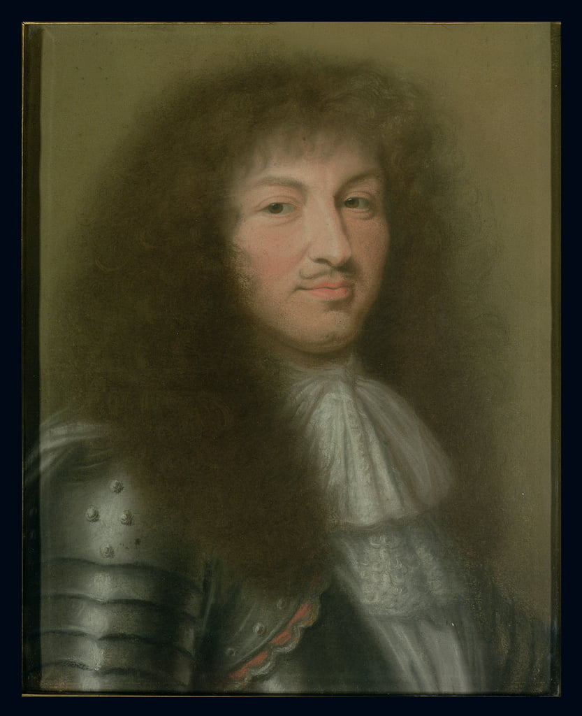 Portrait of Louis XIV (1638-1715) King of France (pastel on paper) by Robert Nanteuil