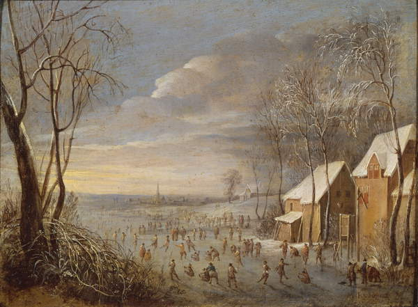 Skating Scene or, Snow Effect  by Robert van den Hoecke