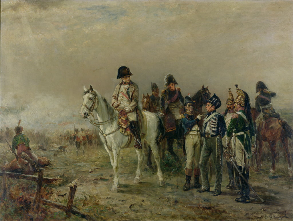 The Turning Point at Waterloo  by Robert Alexander Hillingford