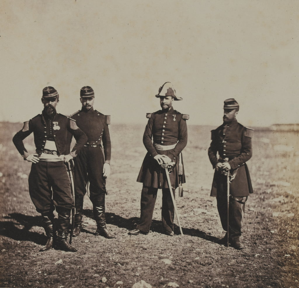 General Beuret and Officers of his Staff  by Roger Fenton