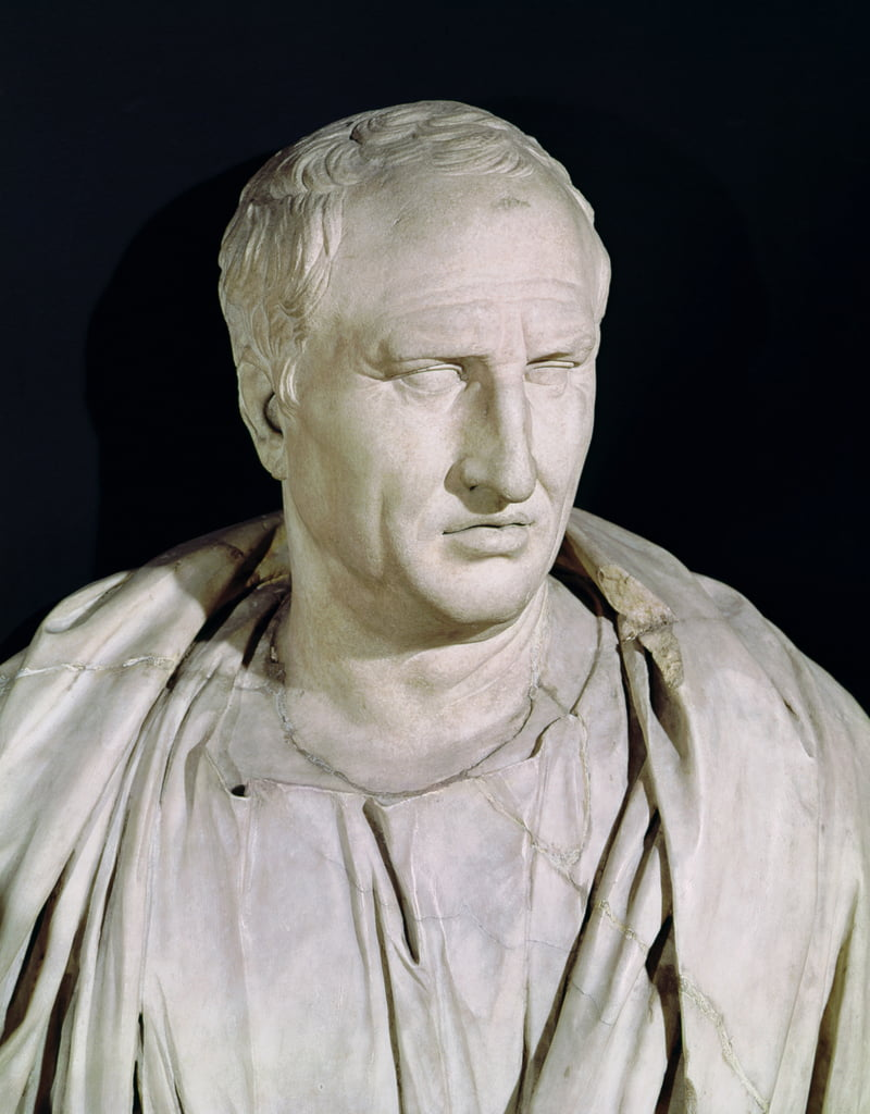 Bust of Marcus Tullius Cicero 106-43 BC marble detail of 168173 by Roman