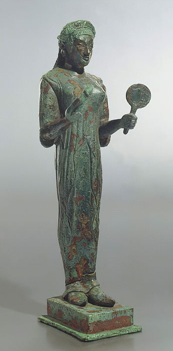 Statue of Persephone, from the Sanctuary of the Thirteen Altars, Lanuvio (bronze) by Roman