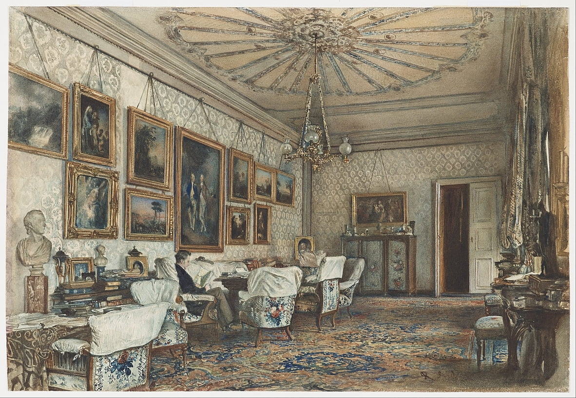 Salon in the Apartment of Count Lanckoronski in Vienna by Rudolf von Alt