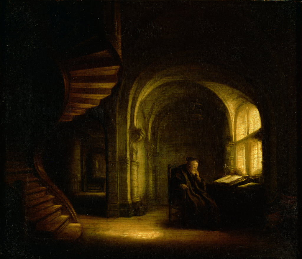 Philosopher with an Open Book, 1625-7  by Salomon Koninck