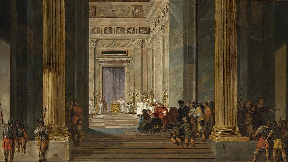 The Queen of Sheba before the Temple of King Solomon in Jerusalem, ca 1630-1634 by Salomon de Bray