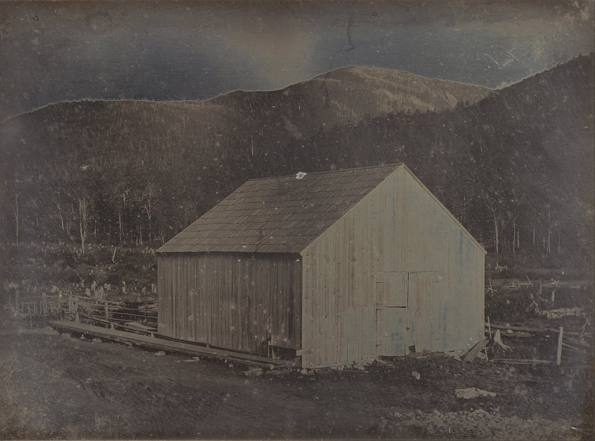 View of a Barn in New Hampshire by Samuel A. Bemis
