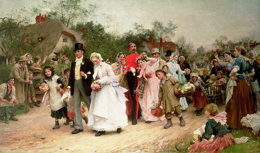 The Village Wedding, 1883  by Samuel Luke Fildes