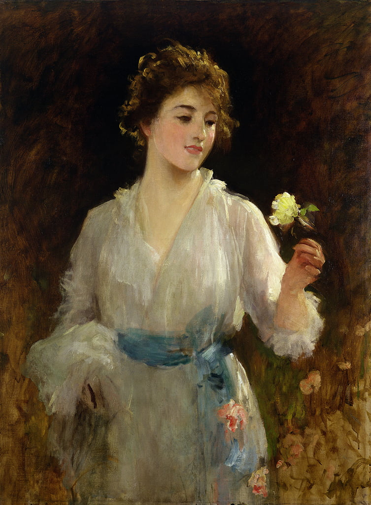The Yellow Rose  by Samuel Luke Fildes