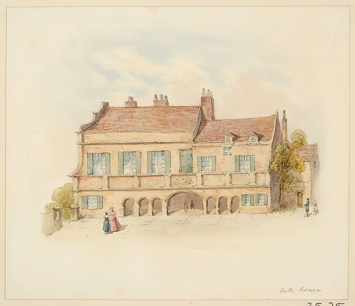 Forth House - Front View (pencil und wc on paper) by Samuel Bilston