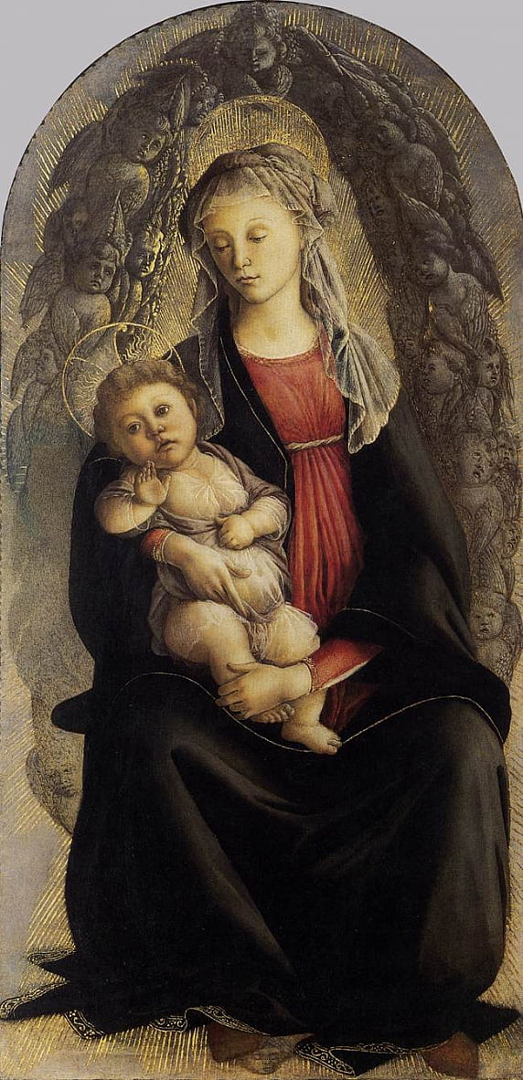Madonna in Glory with Seraphim by Sandro Botticelli