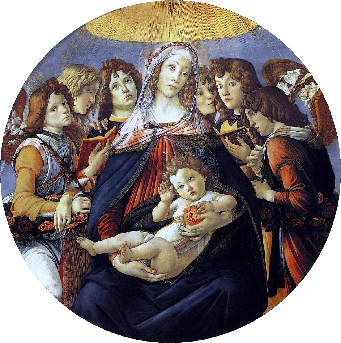 Madonna of the Pomegranate  by Sandro Botticelli