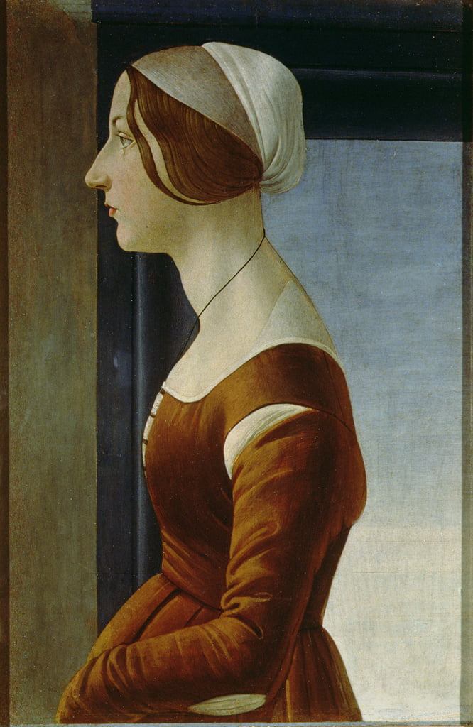 Portrait of a Woman considered to be Alfonsina Orsini by Sandro Botticelli