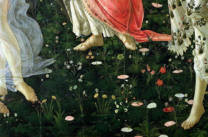 Primavera: detail of flowers tempera on panel (#354270)