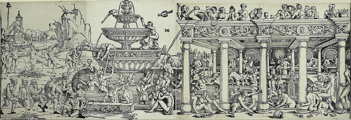 Fountain of Youth and bathhouse by Hans Sebald Beham