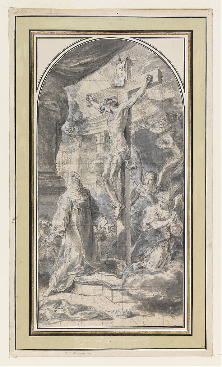 Design Depicting a Vision of the Crucifixion by Sebastiano Conca